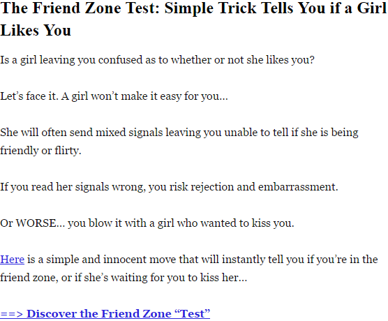 How to know if he likes you test