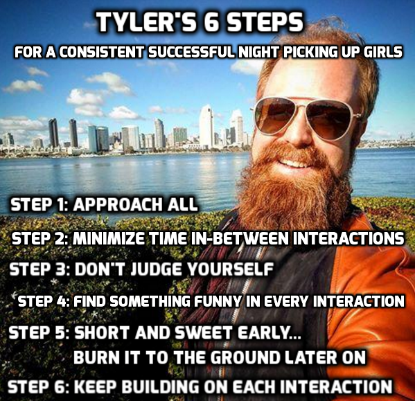 RSD Tyler's 6 Steps For a Successful Night Picking Up Girls